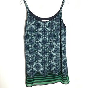 Cabi Camisole Blue and Green  Size Small